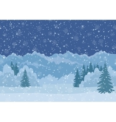 Christmas Landscape Mountains Seamless vector image