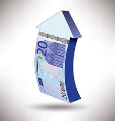 Euro 20 arrow vector image vector image