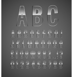 Glass font vector image