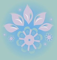 ice blossom vector image