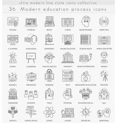 Modern online education ultra modern vector image vector image
