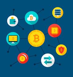 bitcoin digital concept vector image vector image