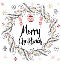 Holidays modern calligraphy Merry Christmas Hand vector image vector image