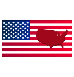 map of the united states with flag vector image vector image