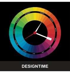 time for design concept clock vector image