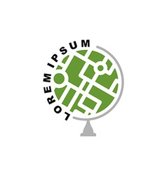 Abstract earth globe logo Logo for travel agency vector image