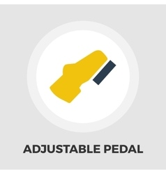 Adjustable pedal flat icon vector image