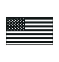 Black usa flag on white background vector