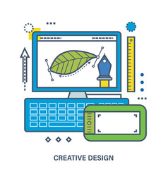concept of creative design vector image vector image