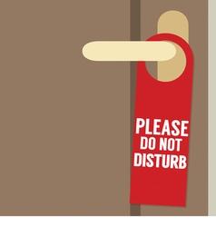 Please do not disturb door hanger vector