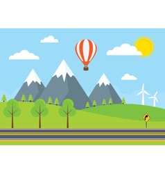 Road and Mountains vector image vector image