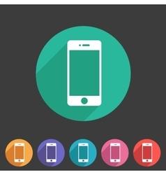 smartphone phone icon flat web sign symbol logo vector image vector image