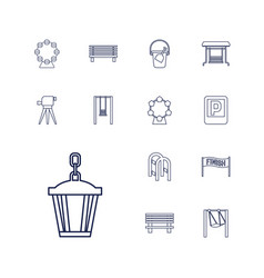 13 outdoor icons vector