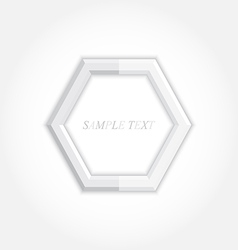 3d abstract background and hexagon icon design vector image