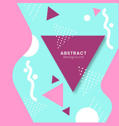 Abstract background with geometric style vector
