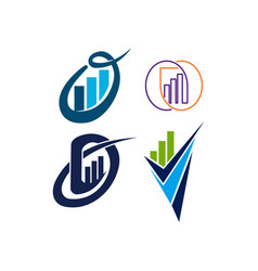 accounting tax financial business logo design set vector image