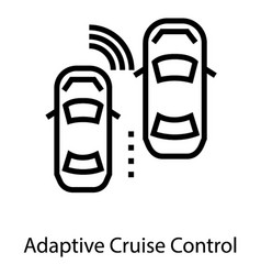 Adaptive cruise control vector