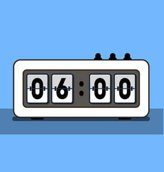 Alarm clock with analog boarding font vector
