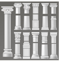 ancient column historical antique column or vector image