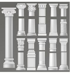 ancient column historical antique column or vector image
