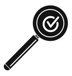 Approved search icon simple style vector