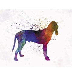Ariege Hound in watercolor vector image