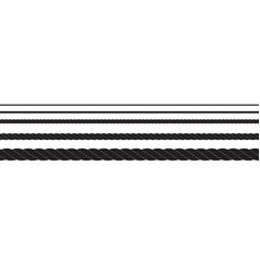 black and white rope isolated on white seamless vector image
