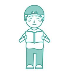 Boy and book design vector