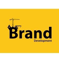 Brand branding development with vector