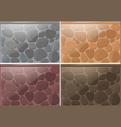 Brick wall pattern in four colors vector