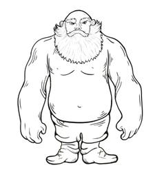 Brutal man with a beard vector