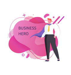 Business hero person in suit superhero vector