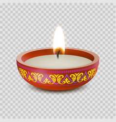 candle tealight or tea light 3d realistic icon vector image