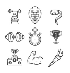 Collection of sport icons vector