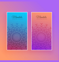 colorful mandala beautiful card design vector image