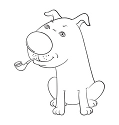 Dog with pip vector