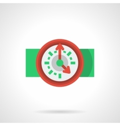 Flat icon for deadline vector image