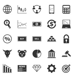 Forex icons on white background vector