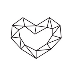 geometric symbol heart shape frame with vector image