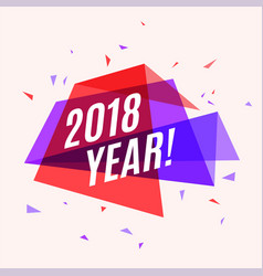 geometrical colorful banner 2018 year speech vector image