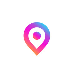 Geotag or location pin logo icon design vector