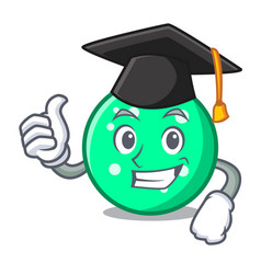 graduation circle character cartoon style vector image