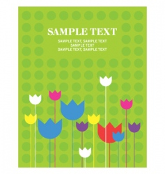 greeting card flower vector image