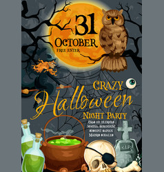 Halloween poster for october holiday party vector