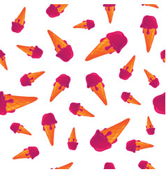 Hand drawn cartoon ice cream seamless pattern vector