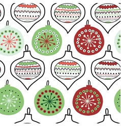 hand drawn doodle christmas tree ornaments vector image