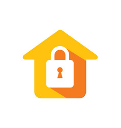 Home lock secure icon logo vector