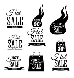 Hot sale banners this weekend only special offer vector