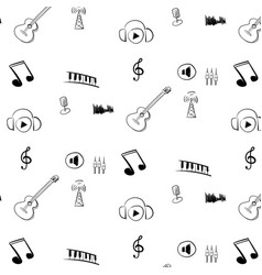 internet radio pattern black and white vector image