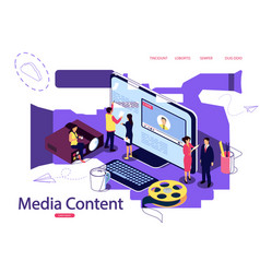 isometric concept education vector image